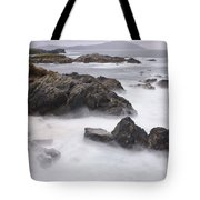 Storm Waves And Cliffs Tote Bag