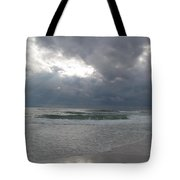 Stormclouds Over The Sea Tote Bag