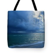 Storms Brewing Off Navarre Beach At Dawn Tote Bag