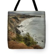Storms Over A Rugged Coast Tote Bag