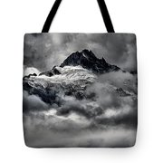 Storms Over Glaciers And Rugged Peaks Tote Bag