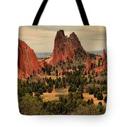 Storms Passing Over The Garden Tote Bag