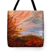 Stormy Autumn Day Tote Bag