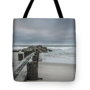 Stormy Beach Forcast Tote Bag