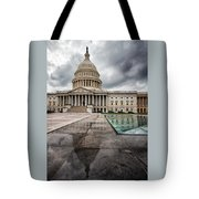 Stormy Capitol Day I Tote Bag