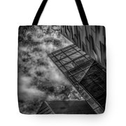 Stormy Clouds Over Modern Building Tote Bag