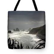 Stormy Coast New Zealand Tote Bag