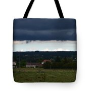 Stormy Countryside Tote Bag