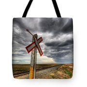 Stormy Crossing Tote Bag