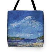 Stormy Day At Picnic Island Tote Bag