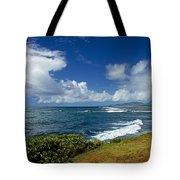 Stormy Day At The Beach Tote Bag