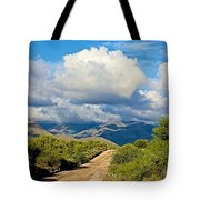 Stormy Day In The Desert Tote Bag