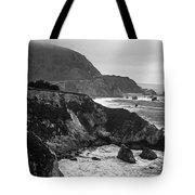 Stormy Hwy 1 Coast Tote Bag by Kathy Yates