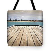 Stormy Jetty Tote Bag