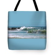 Stormy Lagune - Blue Seascape Tote Bag