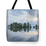 Stormy Morning On The Lake Tote Bag