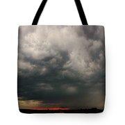Stormy Nebraska Sunset Tote Bag