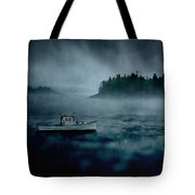 Stormy Night Off The Coast Of Maine Tote Bag