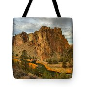 Stormy Over Smith Rock Tote Bag