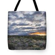Stormy Santa Fe Mountains Sunrise - Santa Fe New Mexico Tote Bag