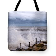 Stormy Seafront  Tote Bag
