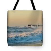 Stormy Seas Avon Pier 9 11/03 Tote Bag