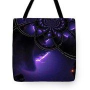 Stormy Skies Illusion Tote Bag