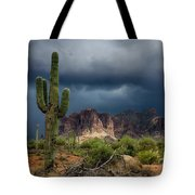 Stormy Skies Over The Superstitions Tote Bag