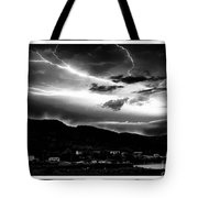 Stormy Sky - Lightening - Small Town Tote Bag