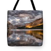 Stormy Sunset At Tenaya Tote Bag