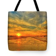 Stormy Sunset Over Santa Ana River Tote Bag