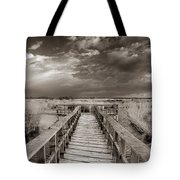 Stormy Weather At The Lake Vintage Tote Bag