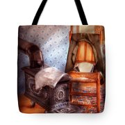 Stove - The Stove And The Chair  Tote Bag by Mike Savad