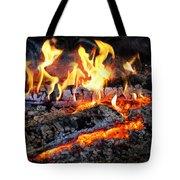 Stove - The Yule Log  Tote Bag by Mike Savad