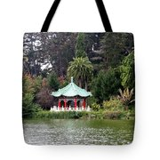 Stow Lake Chinese Pavilion Tote Bag
