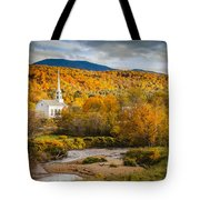 Stowe Church At Sunset Tote Bag