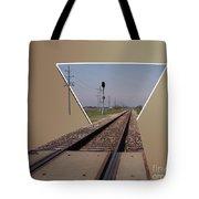 Straight As A Rail Tote Bag