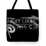 Straight Lines And Circles Tote Bag