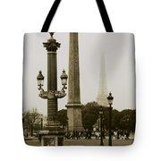 Straight Lines In Paris Tote Bag