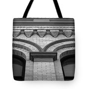 Straight Up Perspective - Black And White Tote Bag