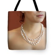 Strand Of Pearls Tote Bag by Margie Hurwich