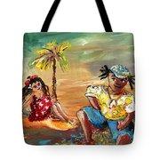 Stranded In Tahiti Tote Bag