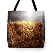 Straw Bale In Old Barn Tote Bag