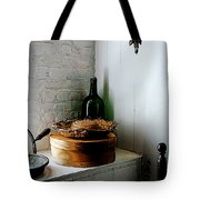 Straw Hat And Hat Box Tote Bag