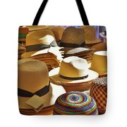 Straw Hats Tote Bag