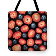 Strawberries And Blueberries Tote Bag