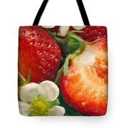 Strawberries And Vanilla Tote Bag