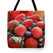 Strawberries Blueberries Mangoes - Fruit - Heart Health Tote Bag