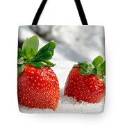 Strawberries On Ice  Tote Bag