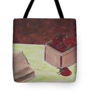 Strawberry Basket Tote Bag